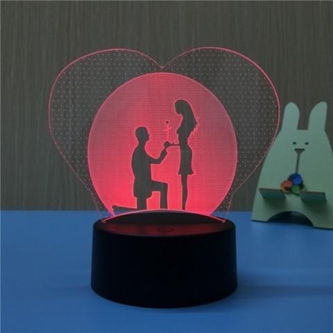 Светильник 3D Влюбленные