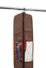 Чехол для одежды двойной  короткий 100х60х20, Париж, Шоколадный Париж