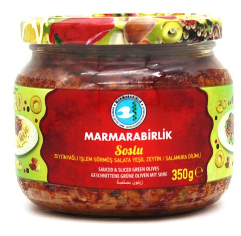 Соус из зеленых оливок со специями, Marmarabirlik, 350 г