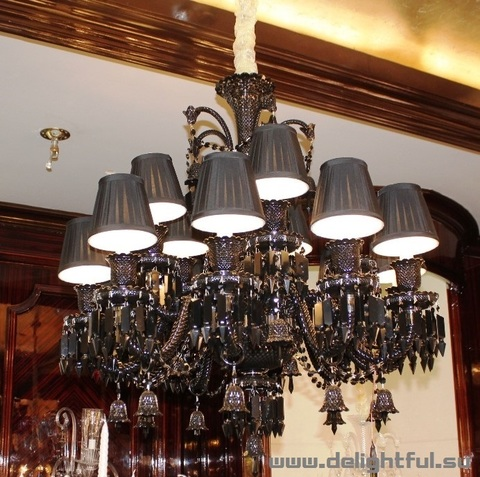replica BACCARAT ZÉNITH CHANDELIER ( 12 lights + black )