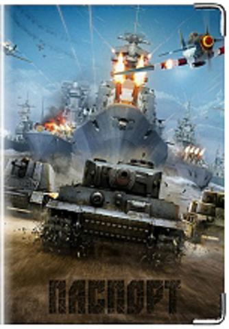 """Обложка для паспорта """"World of war tanks"""" (1)"""