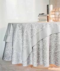 Скатерть 170х300 и 12 салфеток Blanc des Vosges Ombelle серая
