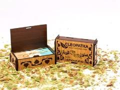 Набор мыла в деревянной шкатулке с белыми накладками, 3 шт, 600g ТМ Клеопатра