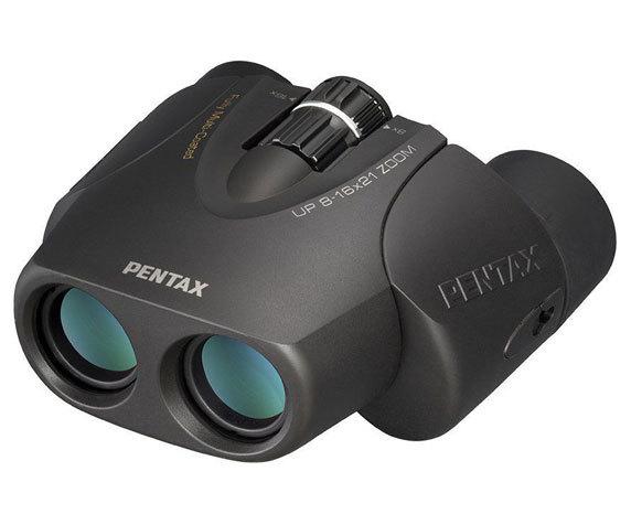 Универсальный бинокль Pentax UP 8-16 21 черного цвета