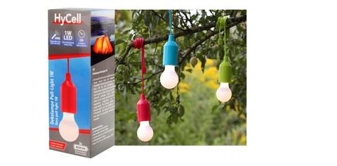 Светодиодная лампочка HyCell Pull-Light-1W-красная + 3ААА