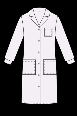 Выкройка медицинского халата на пуговицах технический рисунок