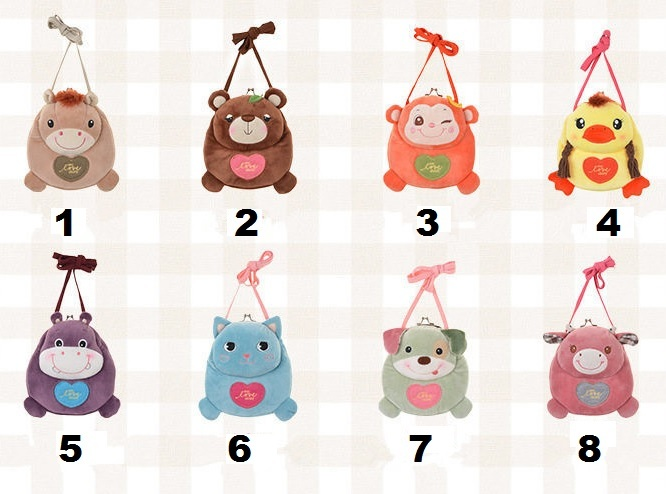 Bag Purse Plush For Girls Kids Set 1