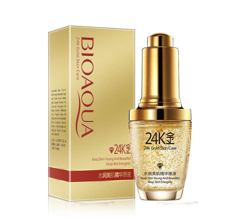 Bioaqua Сыворотка с золотом 24K Gold Skin Care Serum, 30 мл