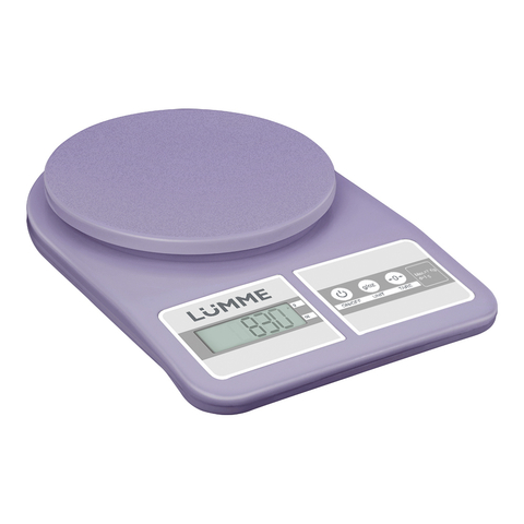 Весы кухонные сенсор LUMME LU-1345 лиловый аметист