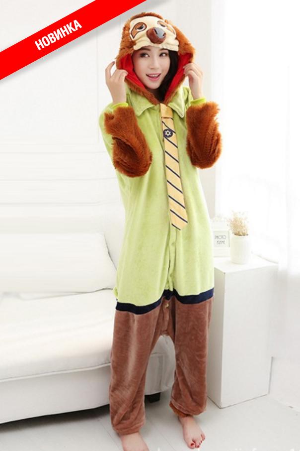 Пижамы кигуруми Молния (Зверополис) ленивец.jpg