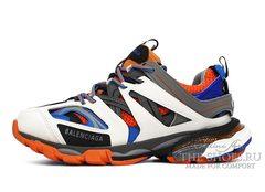 Кроссовки Balenciaga Track Trainer White Grey Orange Blue