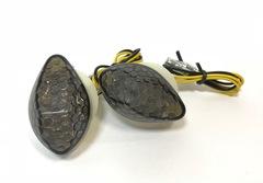Поворотники капельки встраиваемые в пластик для мотоциклов Honda Темный