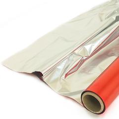 Полисилк Красный / Серебро, 1*20 м