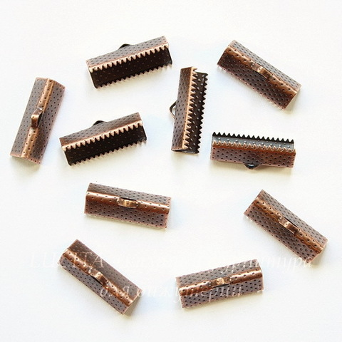 Концевик для лент 20 мм (цвет - античная медь), 10 штук