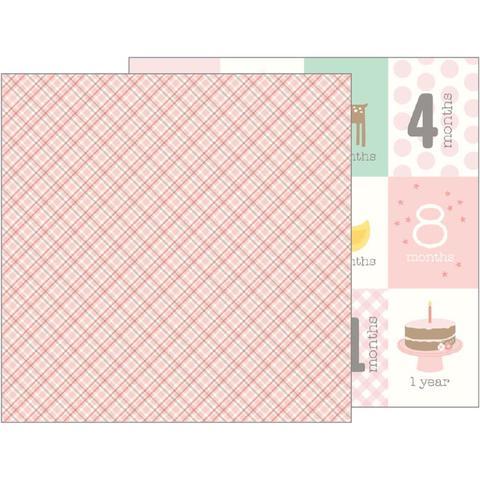 Лист двухсторонней бумаги 30х30 см Lullaby Double - Pebbles