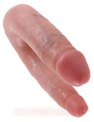Двусторонний фаллоимитатор King Cock U-Shaped Small Double Trouble (цвета в ассортименте)(33,5 см)