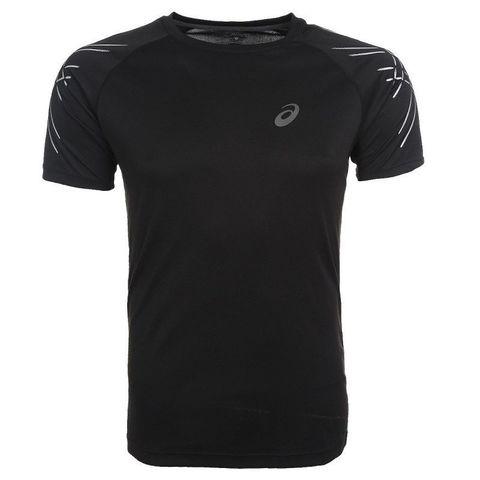 ASICS STRIPE SS TOP мужская спортивная футболка черная