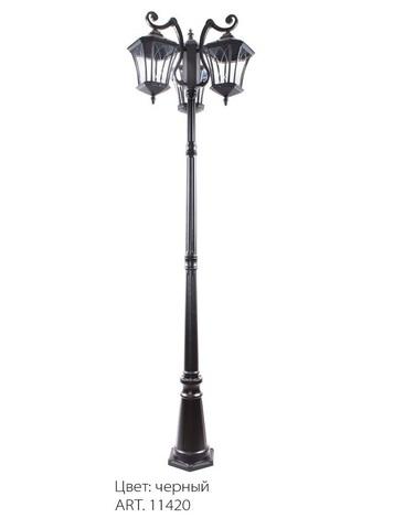 Светильник садово-парковый, 3*60W 230V E27 IP44 черный, PL4039 (Feron)