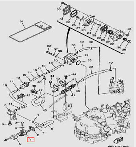 Коннектор топливный для лодочного мотора F5 Sea-PRO(9-1)