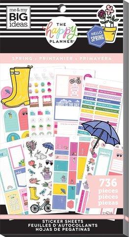 Блокнот со стикерами для ежедневника -Happy Planner Sticker Value Pack- Spring, 736 шт