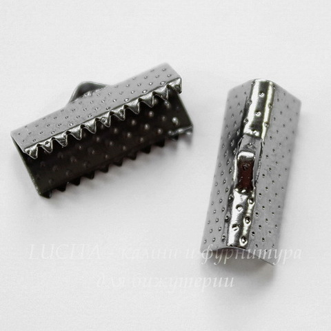 Концевик для лент 16 мм (цвет - черный никель), 10 штук