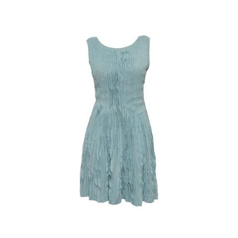 Роскошное трикотажное платье светло-бирюзового цвета от Chanel, 42 размер