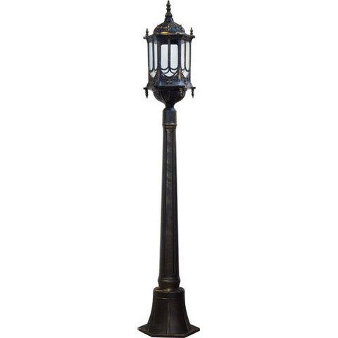 Светильник садово-парковый, 60W 230V E27 1.20M черное золото, PL117 (Feron)