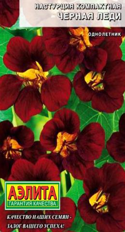 Семена Цветы Настурция Черная леди