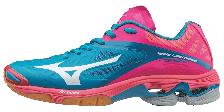 Профессиональные волейбольные кроссовки для женщин Mizuno Wave Lightning Z2 розовые