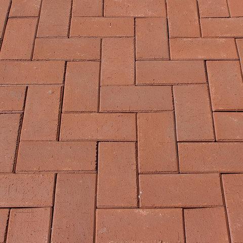ЛСР, RAUF Design, Темно-красный Эдинбург, 200x100x50 - Клинкерная тротуарная брусчатка