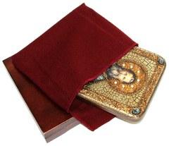 Инкрустированная икона Святой праведный Иоанн Кронштадтский 20х15см на натуральном дереве в подарочной коробке