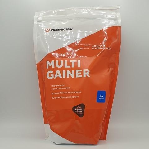 Мультикомпонентный гейнер вкус Двойной шоколад PUREPROTEIN, 1 кг