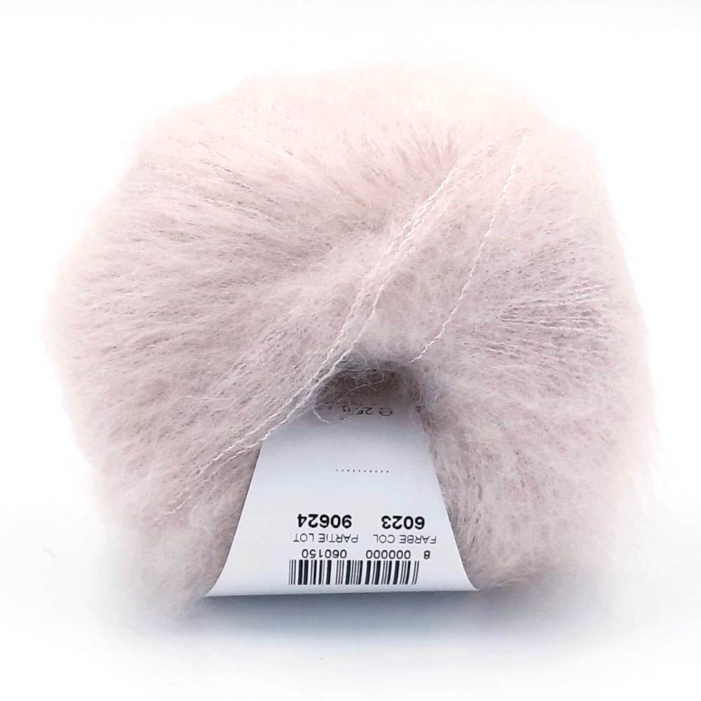 Пряжа Lana Gatto Silk Mohair Lux 6023 нежно-розовый