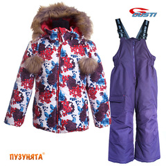 Комплект для девочки зима Gusti Boutique 4965 Purple pennant