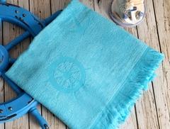 SEASIDE Turkuaz (голубой)   полотенце пляжное бамбуковое  IRYA (Турция)