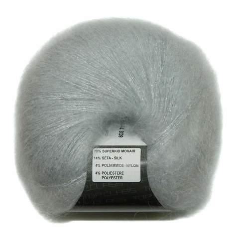 Пряжа Lana Gatto Silk Mohair Lux 6033 жемчуг