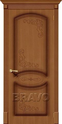 Дверь Bravo Азалия, цвет орех, глухая