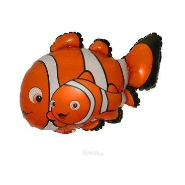 Фольгированные фигуры Фольгированный шар рыбка Немо. ryba-nemo-gelievyj-folgirovannyj-shar.jpg