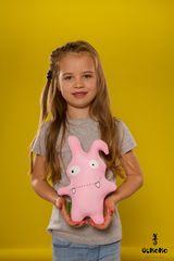 Подушка-игрушка антистресс «Монстрик розовый» 2
