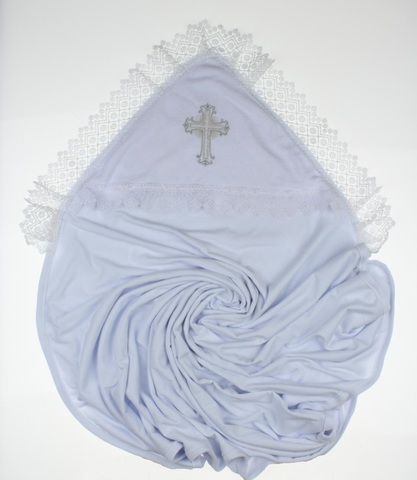 Крыжма для крещения махровая Крестик белая