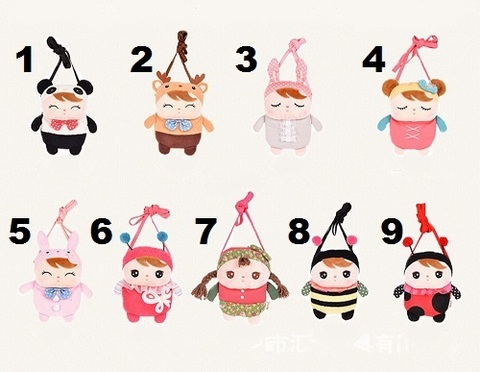 Bag Purse Plush For Girls Kids Set 3
