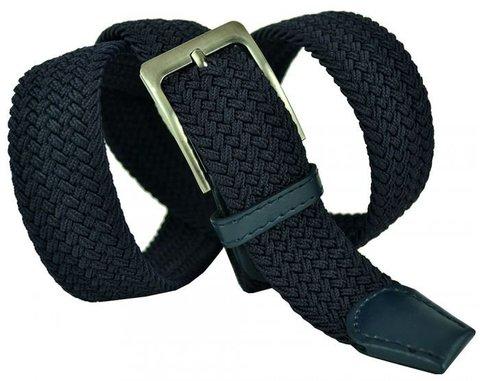 Ремень текстильный брючный большого размера тёмно-синий 35Rezinka-B-014