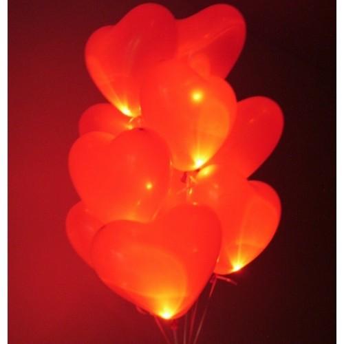 Светящиеся сердца с гелием (фото 2)