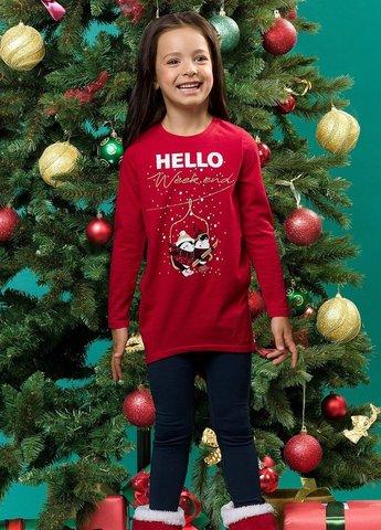 Pelican GFAML3091 Комплект для девочек красный новогодний