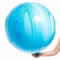 Мраморный шар 70 см. голубой (2 фото)