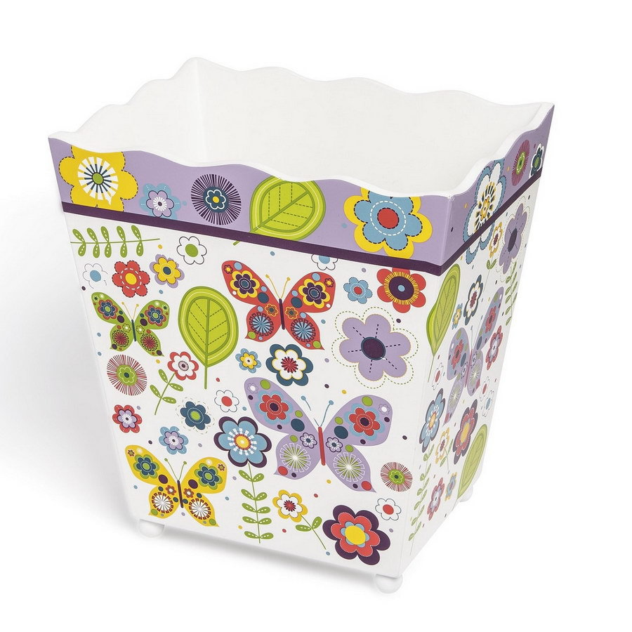 Аксессуары для ванной Ведро для мусора детское Kassatex Butterflies korzina-dlya-musora-kassatex-butterflies-ssha-kitay.jpg