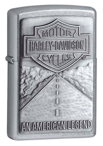 Зажигалка ZIPPO Classic Street Chrome™ с логотипом Harley-Davidson® ZP-20229