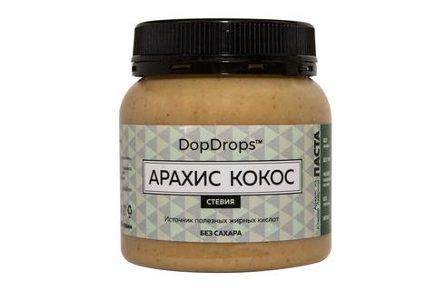 DopDrops Арахис Кокос Паста 250г [стевия], пластик