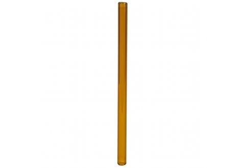 Трубочка стеклянная прямая 20см оранжевая