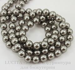5810 Хрустальный жемчуг Сваровски Crystal Grey круглый 12 мм